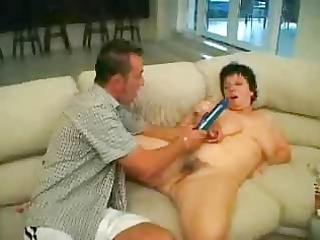 fat cougar milf watching sex banged by