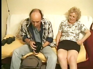 european elderly likes a photoshoot