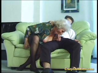 cray elderly milf obtains pierced uneasy