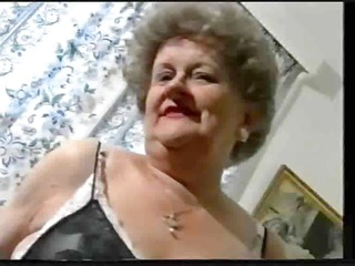 teasing granny elderly into pantyhose