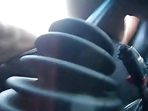 milf drives gear stick