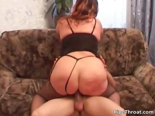 heavy naughty woman with huge libido sucks