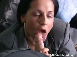 naughty brunette woman associate acquires juicy