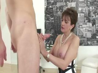 grownup nylons fetish slut blowjob bang