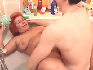 giant sexy woman old fuck into the bathroom