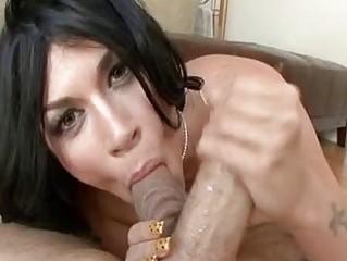 balls tasting blond brunette woman inside high