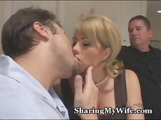 cuckold hubby brings inside a fresh penis to see