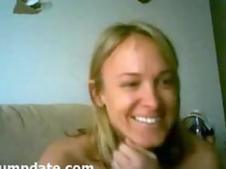 hot milf with pretty bossom peeing into a bag