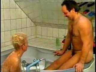filthy german grandma gangbanged into bathtub
