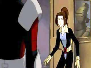 animated xmen video with a cougar brunette slut