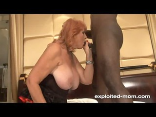 huge boob redhead lady drilling ebony libido