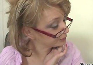 grown-up office boss forces him fuck her uneasy