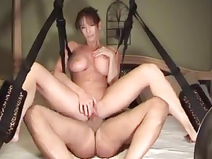 woman and her sex swing