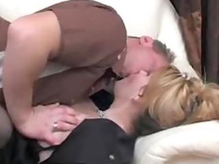 sexy russian elderly chick boss and employee