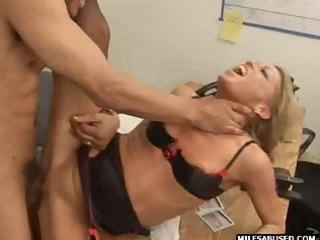 blond milf dressing on high shoes does ass