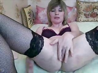 blond webcam mature babe plays with sex toy