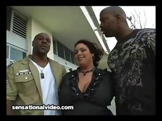 large boob latina woman fucks 2 big dark cocks