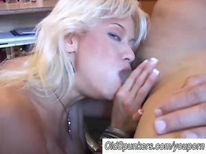 sweet blond milf inside stockings