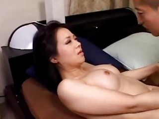 slutty woman licking amateur male driving on him