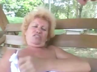 furry elderly effie ass outside