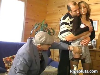 mature shaggy amp bangs two elderly fuckers