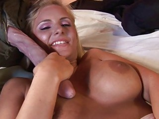 pretty bleached milf does dick sucking and is