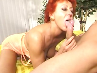 enthusiastic grown-up lady takes cock into slut