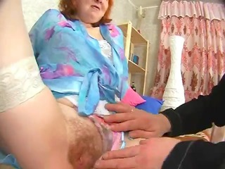 russian elderly gets her a-hole tasted