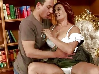 lusty grandma gangbanging with a male