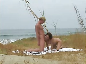 big bossom mature babe hot fuck on the beach