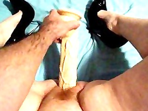 giant plastic cock inside my lady