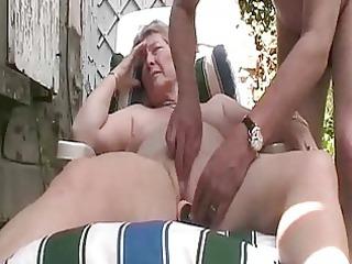 granny outside fun