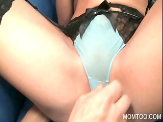 mommy in gstring getting slut fingered