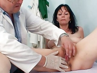 inexperienced lady twat checkup by nasty gyn medic