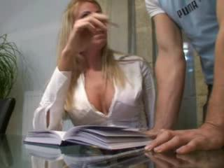 natural housewife teases his slutty associate