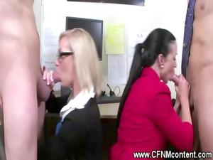 secretaries give handjobs and dick sucking