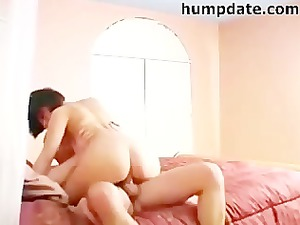stunning lady rides penis and takes pierced