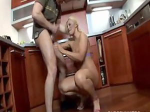 beautiful pale milf pierced and a facial