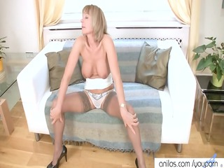 sexy older  has rubbing orgasm