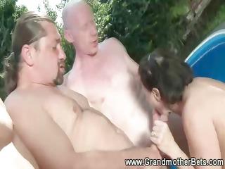 freaky elderly takes dual the fun