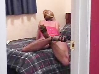 lady reads a porn magazine to start her solo act