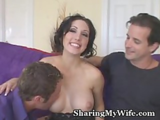 sissy hubby watches hot housewife