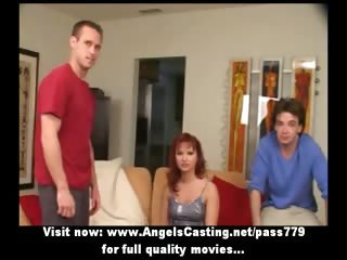ginger mature babe as bride does dick sucking for