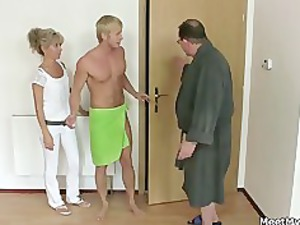 his mom and dad tricks her into fuck