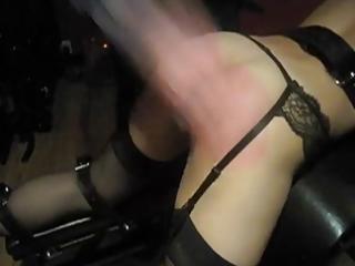 wife taking a proper spanking