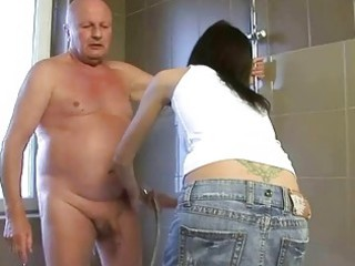 extremely impressive young brunette fucking with
