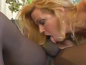 blonde giant tit milf acquires ebony dick