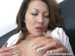 busty eastern  mature babe touches her wet kitty