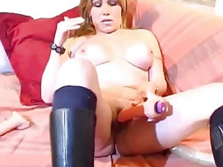 busty mature fresh lady playing anal and kitty