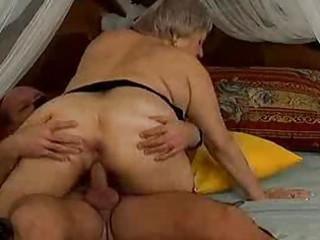 horny granny milf acquires sperm fuck